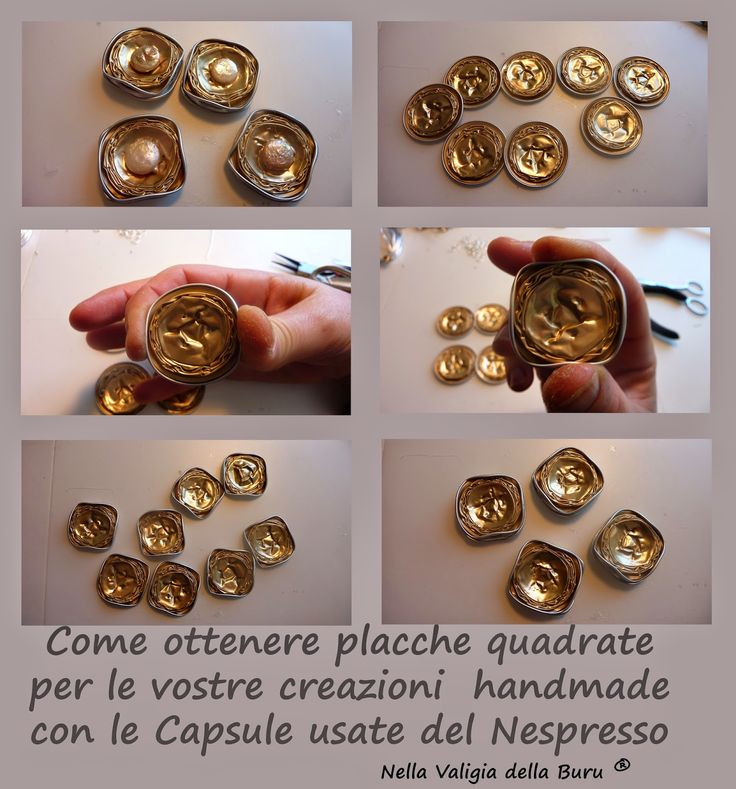 Come realizzare placche quadrate per le vostre creazioni handmade con le Cialde usate del caffè nespresso