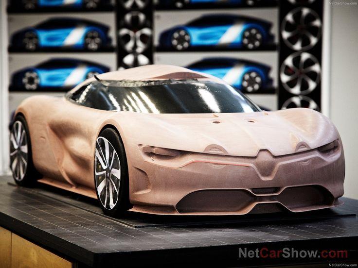 Renault Alpine clay model
