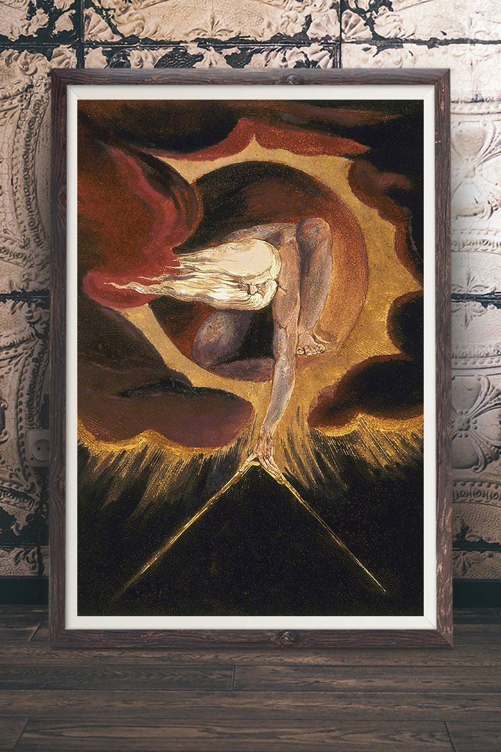 William Blake The Ancient of Days Vintage Print
