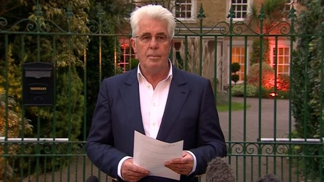 Saturday 26th April. Op Yewtree claims another celeb. Max Clifford: PR guru vows to clear name after charges