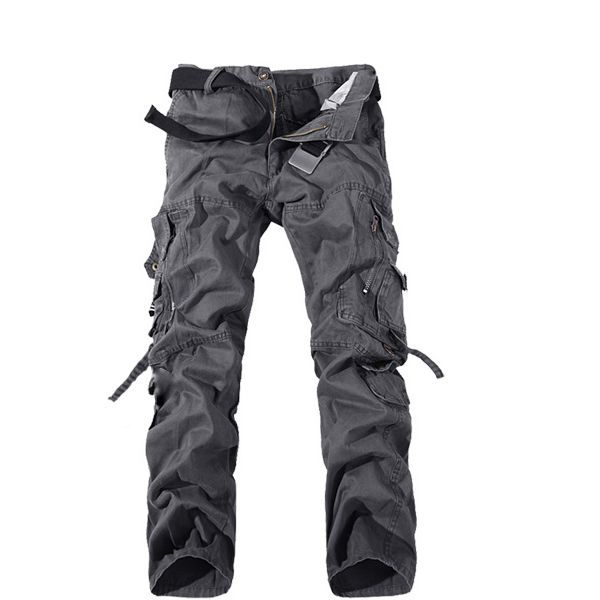 Mens Cargo Pants Multi Pockets Casual Cotton Pants Work Overalls - US$21.99