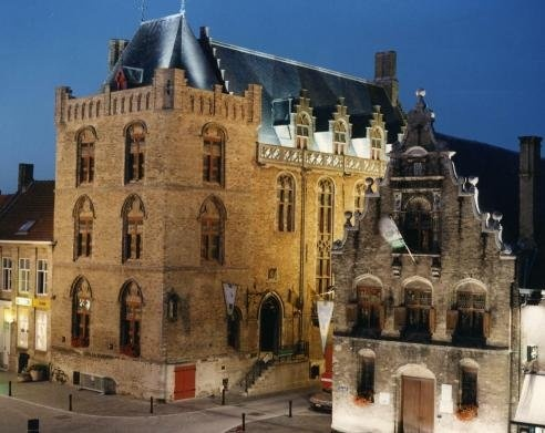 The Spanish pavillion, architecture from the late middle ages in Veurne Flanders