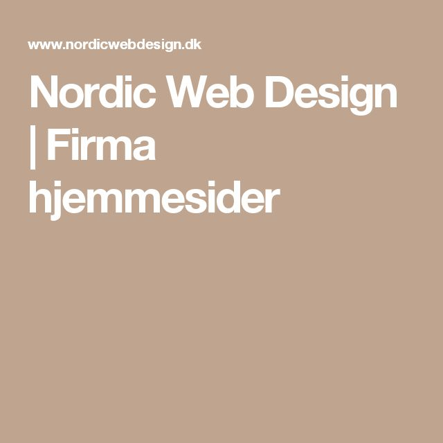 Nordic Web Design | Firma hjemmesider