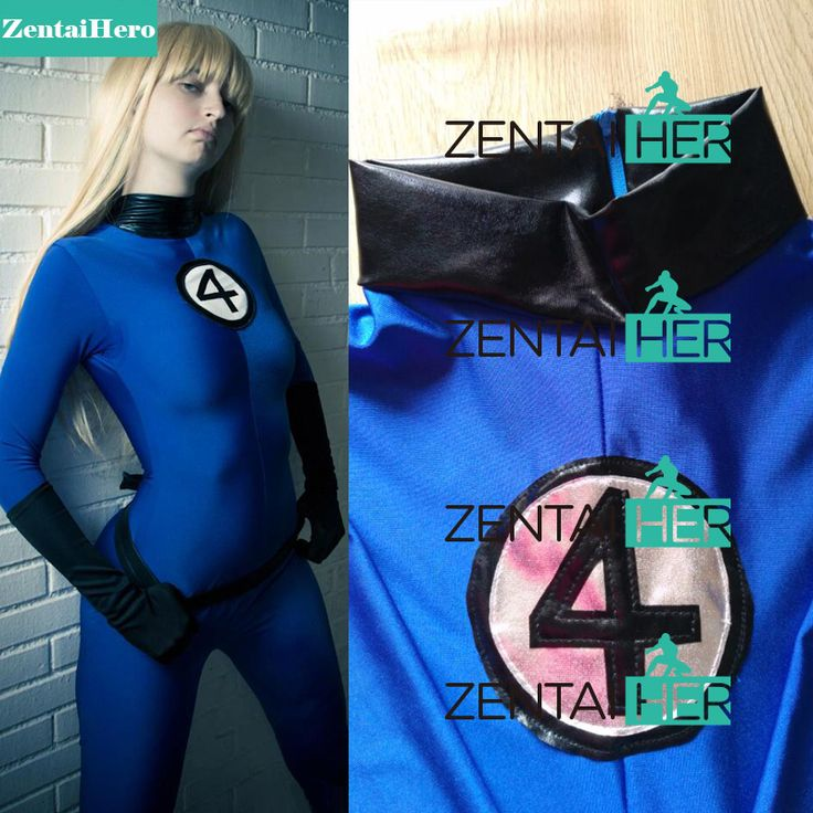 >> Click to Buy << ZentaiHero Fantastic 4 Costume Invisible Woman Sue Storm Superhero Costume Blue Spandex Zentai Catsuits for 2017 Halloween Party #Affiliate