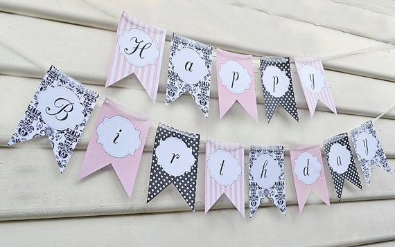 Glamour Girl Paris Party Banner - Glamour Girl Paris Party Collection INSTANT DOWNLOAD on Etsy, $5.50