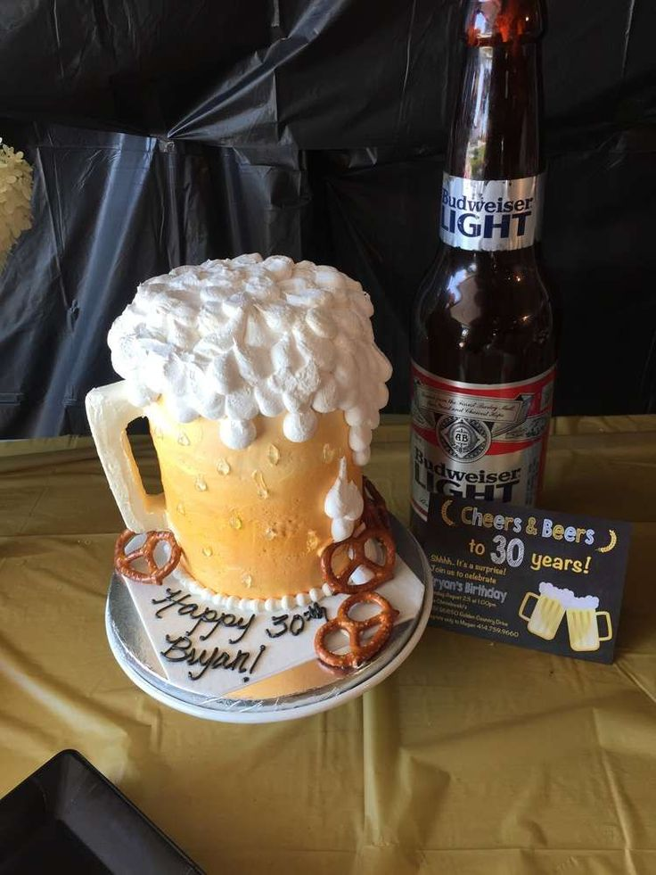 Beer birthday party cake! See more party ideas at CatchMyParty.com!