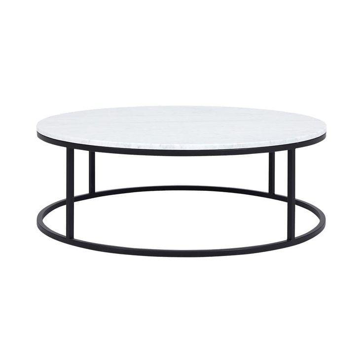 Cameron Black Coffee Table Carrara Marble Table Black Marble