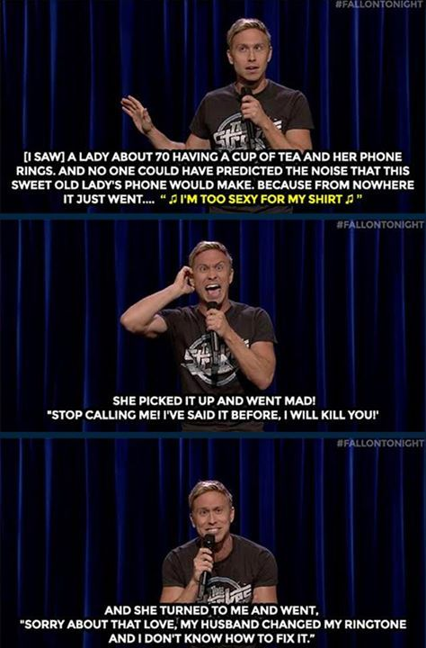 The Tonight Show Starring Jimmy Fallon Russell Howard witnessed an amazing prank while having a cup of tea. <3