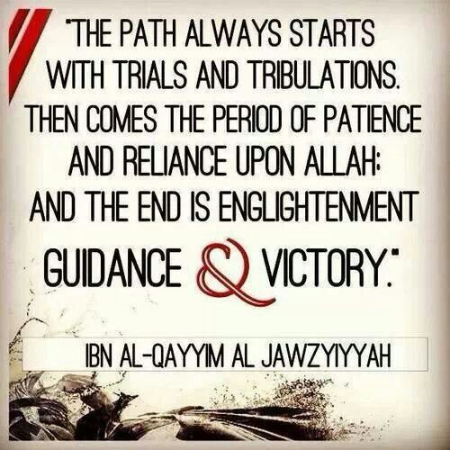 Ya Rabb, grant us the Sabr and the understanding to endure it...and do not deprive us of it's great rewards, and grant us to be together in this life and next Ameen Thuma Ameen