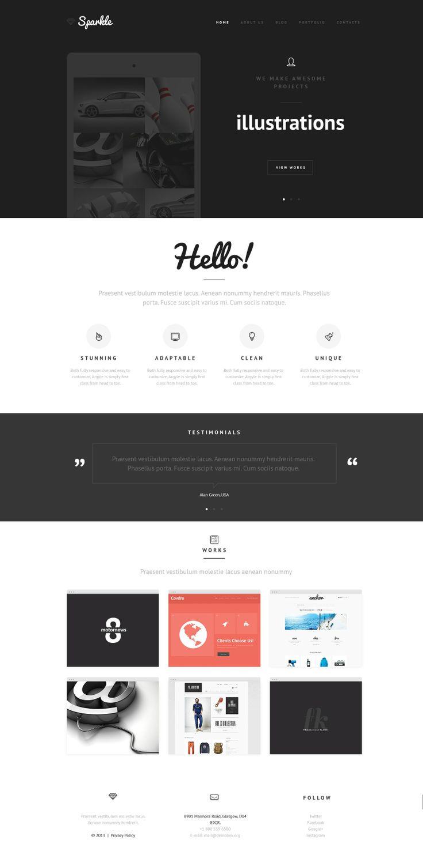 'Sparkle Design' #webdesign for #Joomla 3 theme 47907 http://zign.nl/47907