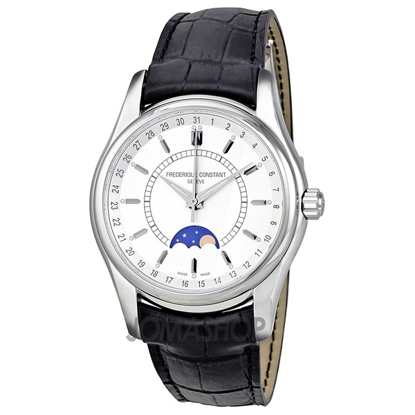 Frederique Constant Silver Dial Leather Mens Watch FC-330S6B6 $1,267.50
