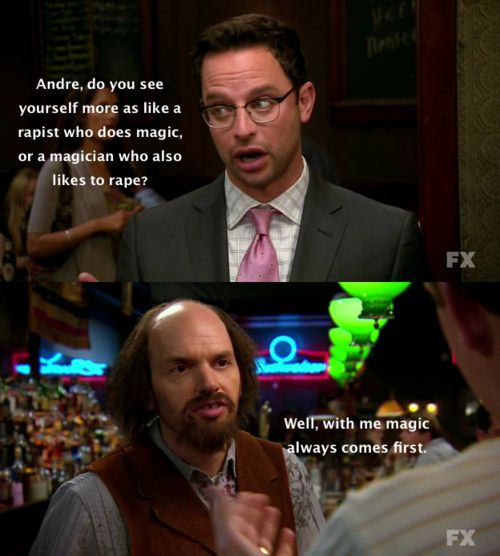 The League- haha i love that i quoted this to you @Liz Mester Schlattierer when i first watched it.