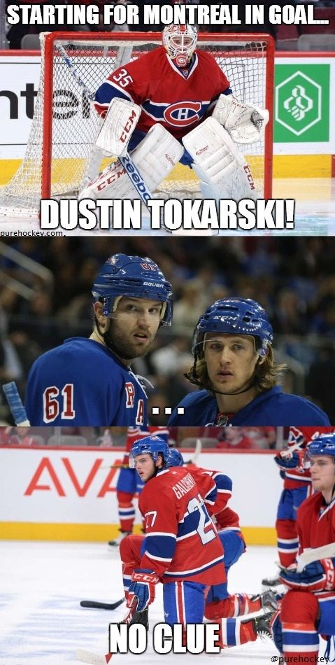 Dustin Tokarski has been good, and now AMAZING. Even though the Montreal Canadiens lost, he is still a star and is getting better by the game. I am sure he will be Prince's backup next season!!!!