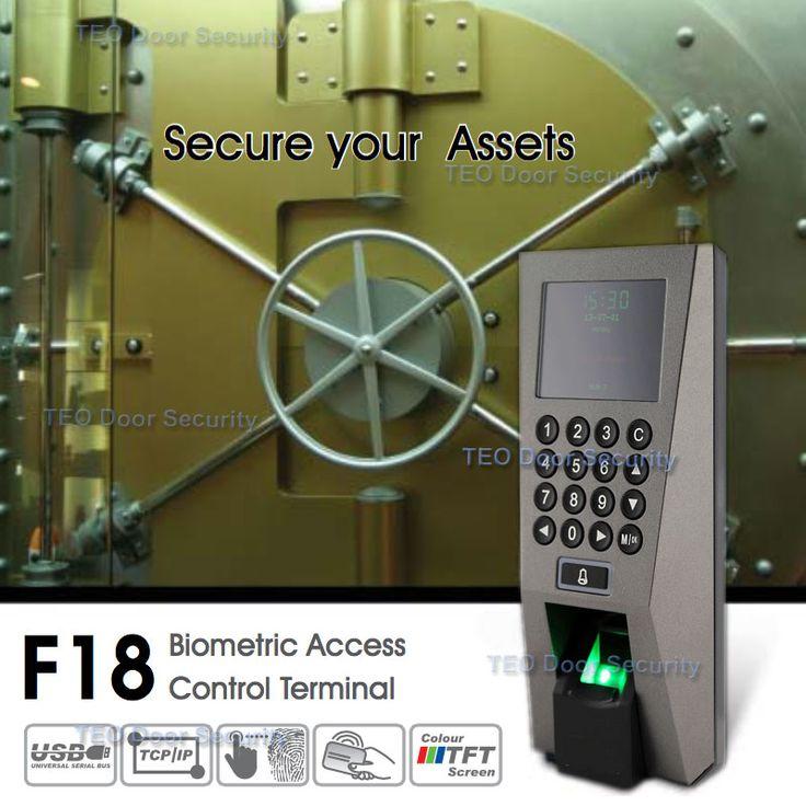ZKTeco F18 Asistencia Control de Acceso de Sistema de Seguridad Sistema de Reconocimiento de ZKAccess3.5 Escáner de Huellas Digitales USB con SDK