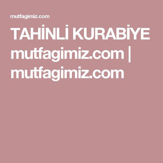 TAHİNLİ KURABİYE mutfagimiz.com | mutfagimiz.com
