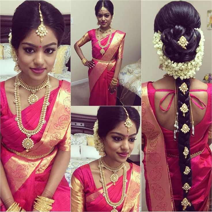 47 Stunning Wedding Hairstyles All Brides Will Love: Sarmi Looked Absolutely Stunning In A Simple Paddu Saree