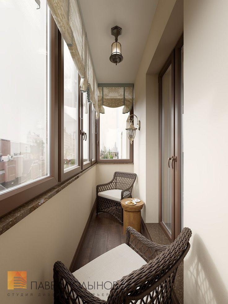 Фото: Интерьер лоджии - Интерьер двухкомнатной квартиры в ЖК «Классика», 75 кв.м.