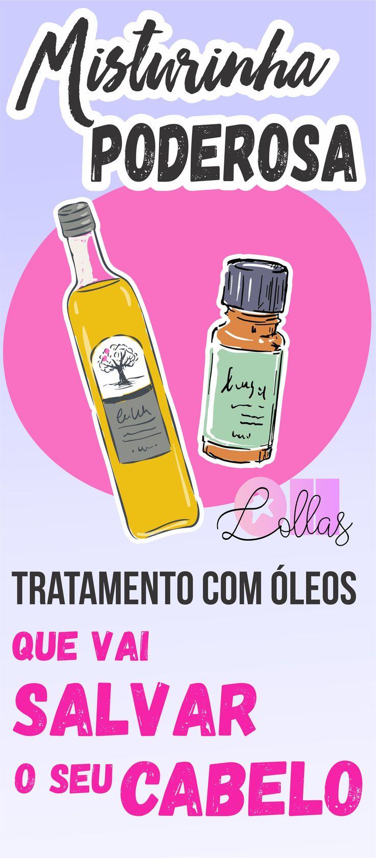 Umectação capilar: Mistura de óleos que vai salvar seu cabelo. Ajuda contra  a queda de cabelo e auxilia no crescimento saudável do cabelo. Hot oil treatment. #Umectaçãocapilar #cronogramacapilar #ProjetoRapunzel #CabelosCacheados #Ohlollas