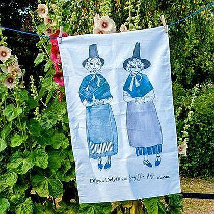 Dilys & Delyth Tea Towel