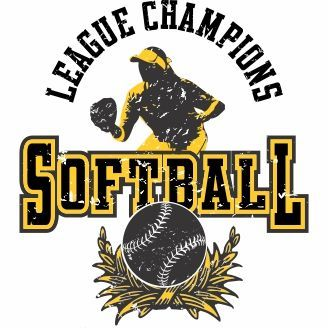 vector graphic softball league champions for t shirt designs
