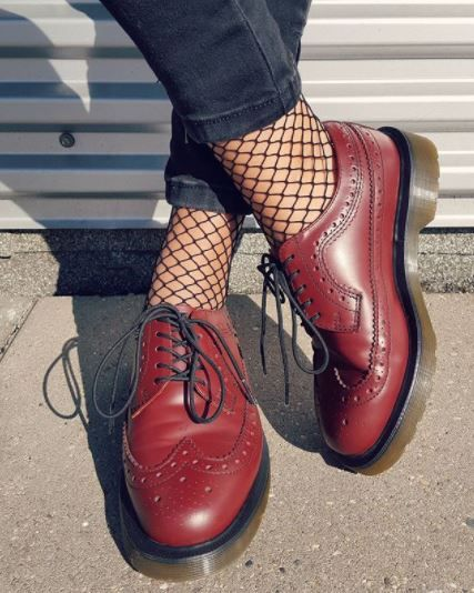 DOC'S & SOCKS: We're all caught up in this fishnet look - a fashion forward way to style the 3989 brogue. #docsandsocks