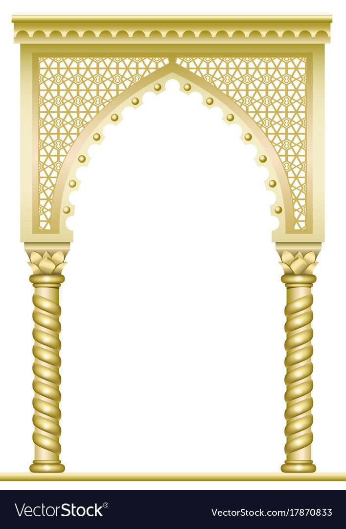 Golden East Arch Vector Image On Vectorstock Vector Images Vector Vector Free