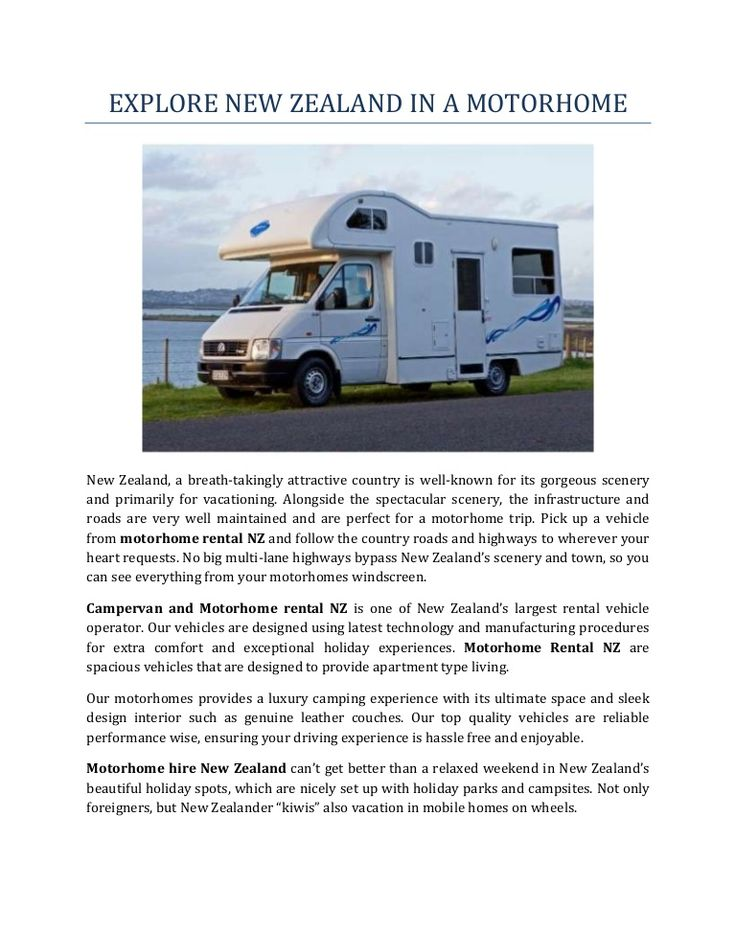 Explore New Zealand in a Motorhome