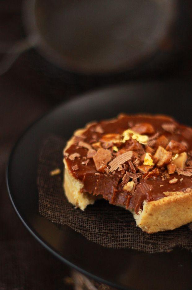 Tartelettes chocolat au lait et praslines | spicy tarts with milk chocolate and pralines