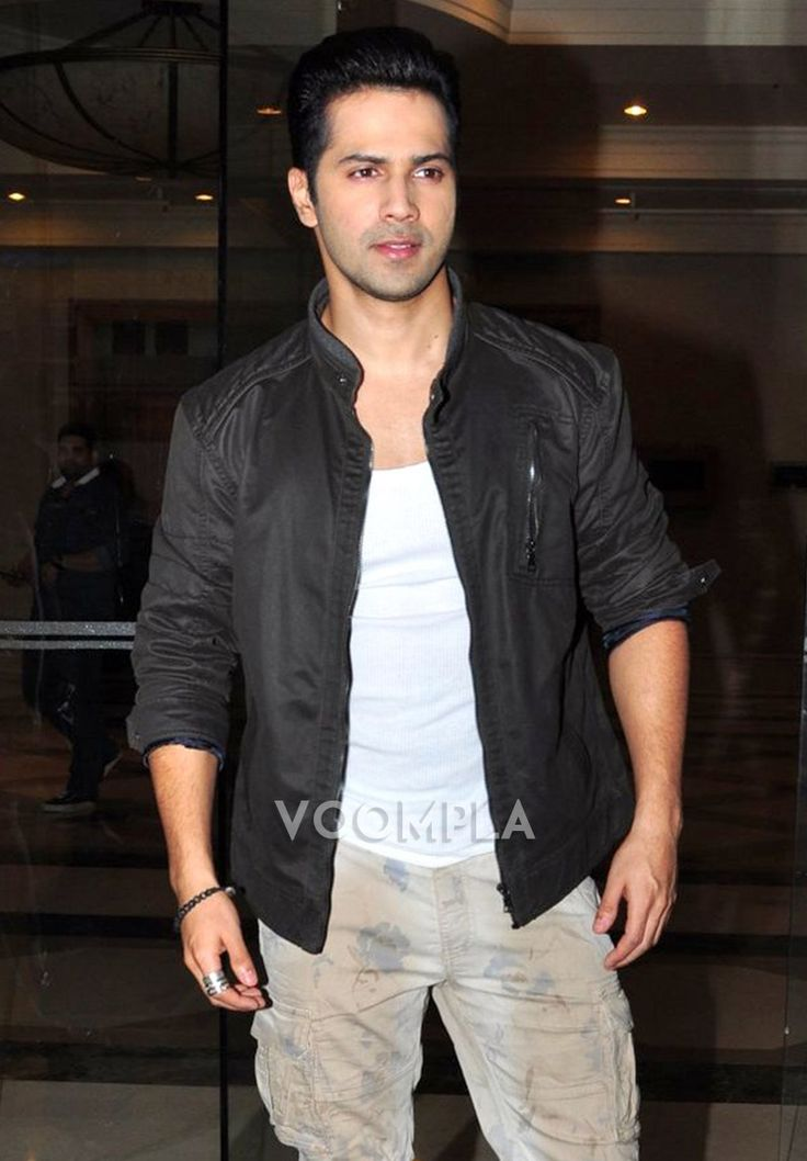 A smart looking Varun Dhawan styles up for movie promotions. via Voompla.com