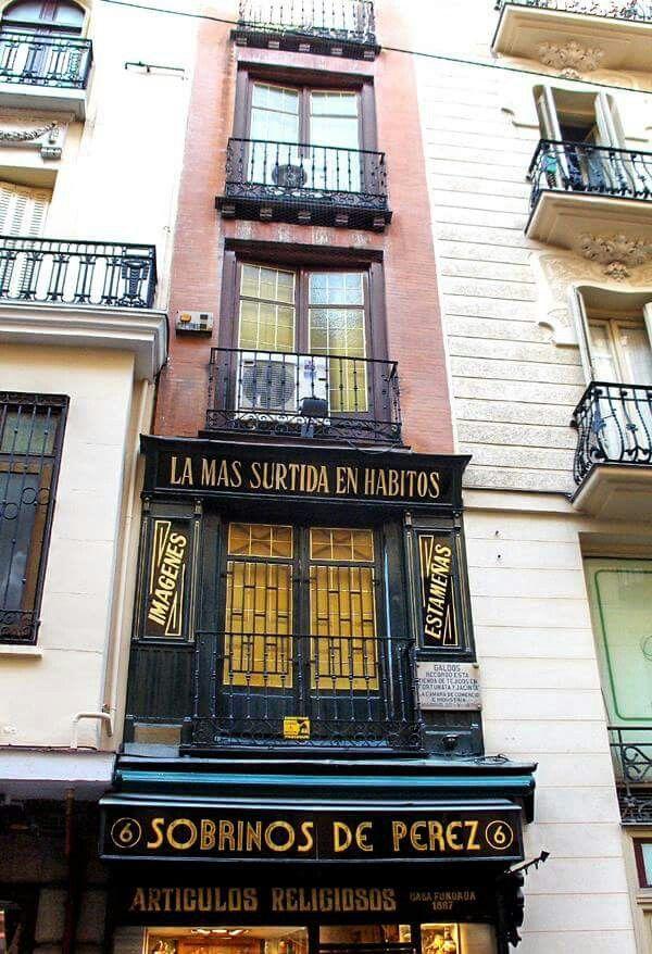 La casa más estrecha de Madrid, en la Calle Postas, junto a la Plaza Mayor