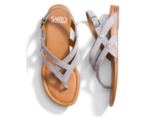 Grey strappy sandals. Stitch Fix spring summer 2016 2017 outfit ideas. Try Stitchfix subscription box! Best personal styling service. Fill out your style profile, schedule a fix and enjoy!  Feel free