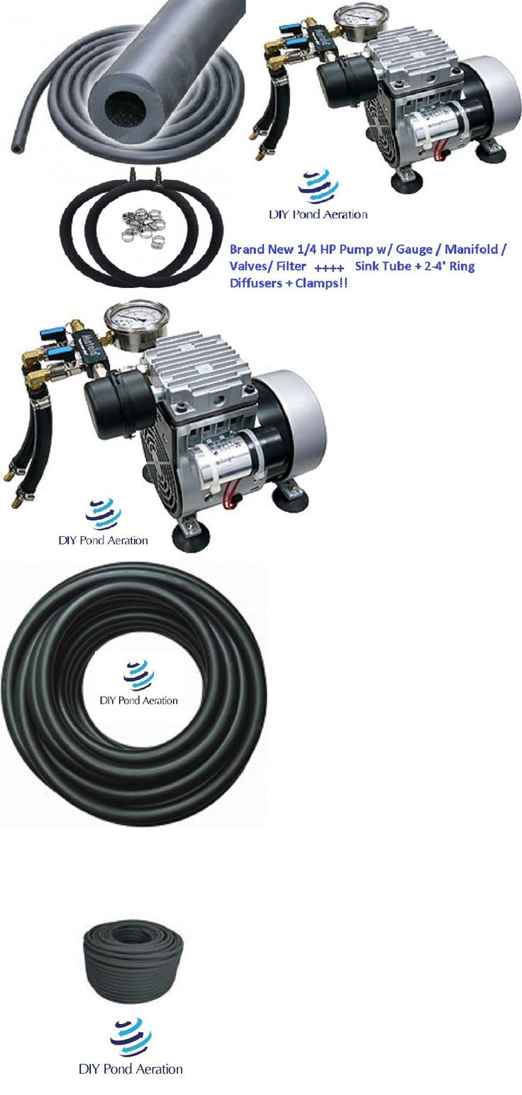Fish Pond Supplies 134750: New 1 4Hp Pond Aerator System W 50 Wtd Hose And 2-4 Ring Diffusers 1 4-1+ Acre! -> BUY IT NOW ONLY: $709 on eBay!