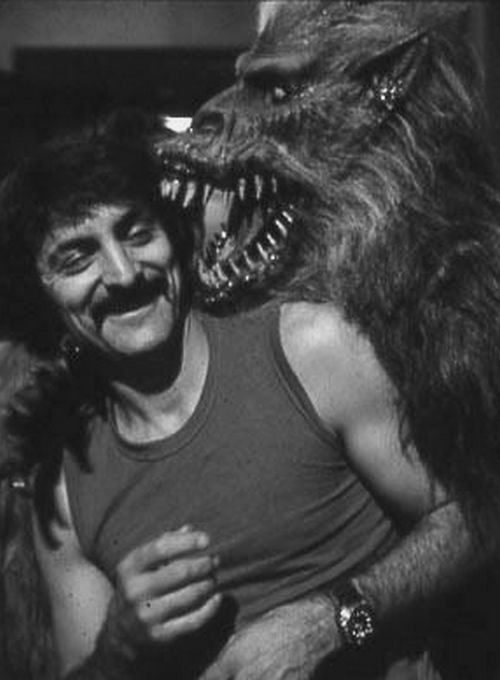 Tom Savini on the set of Creepshow