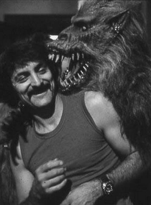 Tom Savini on the set of Creepshow