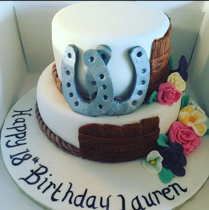 Horse fanatic cake!