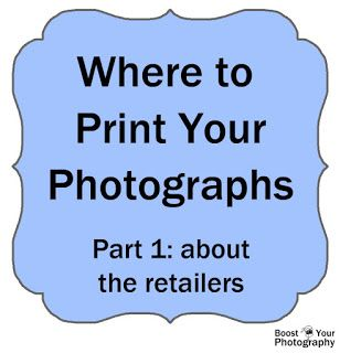 Where to Print Your Photographs: Comparing Online Photo-Printing Companies | Boost Your Photography