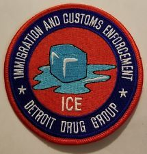Immigration and Customs Enforcement ICE Detroit Drug Group patch