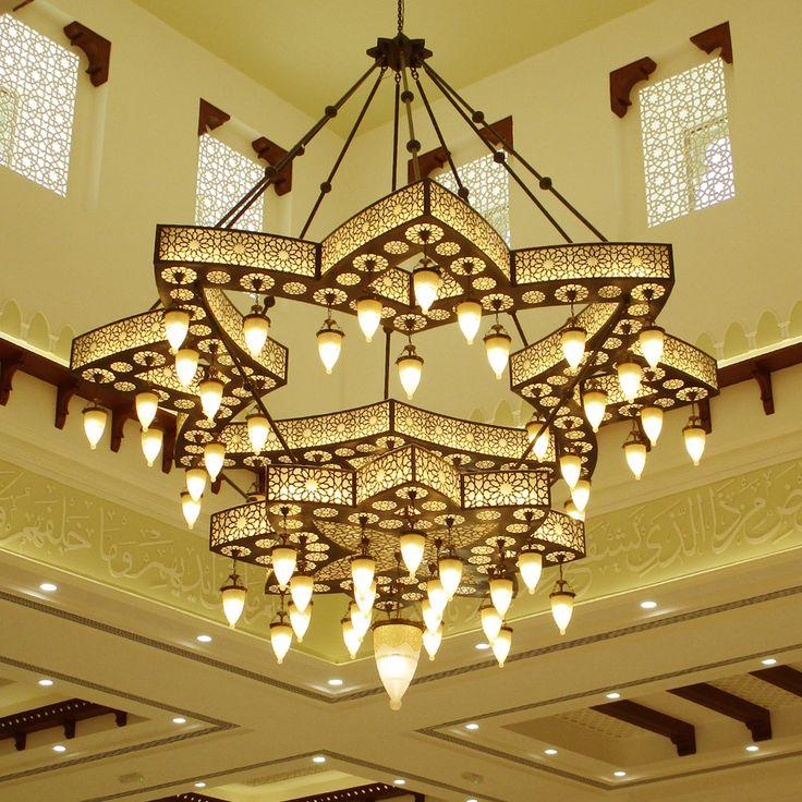 Brass Chandelier From Brasslightinternational We Put In One Mosque Al Ain