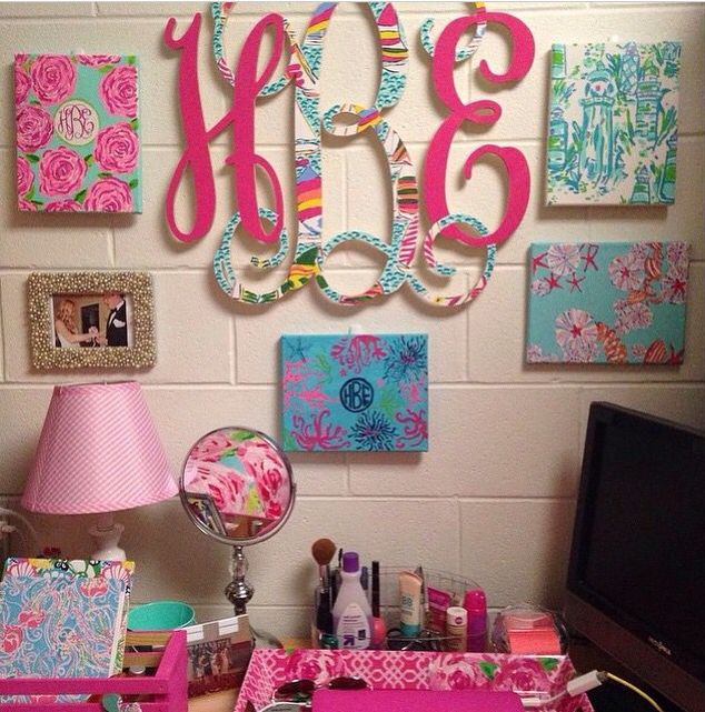 Lilly inspired college dorm walls