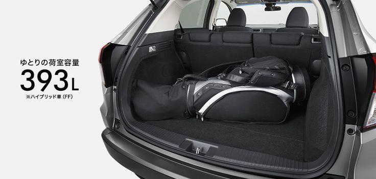 ヴェゼル_9.5インチのゴルフバッグも ラクに積める大容量。