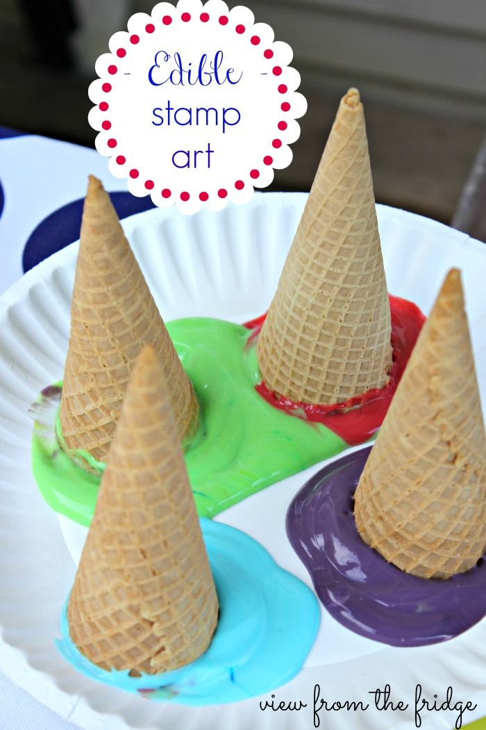 Edible Stamp Art with Edible Paint  |  View From The Fridge