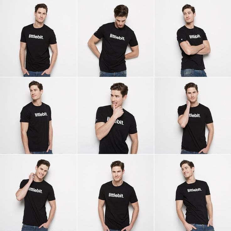 Littlebit moments - shoot day! Who doesn't love a great quality black basic t-shirt that you can wear every day! Also available in white and grey marle. Get a #littlebit #mens #tee at littlebit.com/men #mensclothing #menstees #crewneck #basics #casual #ootd #fashionblogger #blackandwhite #menswear #streetwear