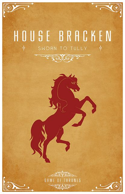 house bracken sigil red stallion sworn to house tully game of thrones design by thomas. Black Bedroom Furniture Sets. Home Design Ideas