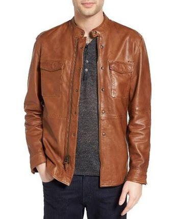 Image result for John Varvatos antique brown leather jacket