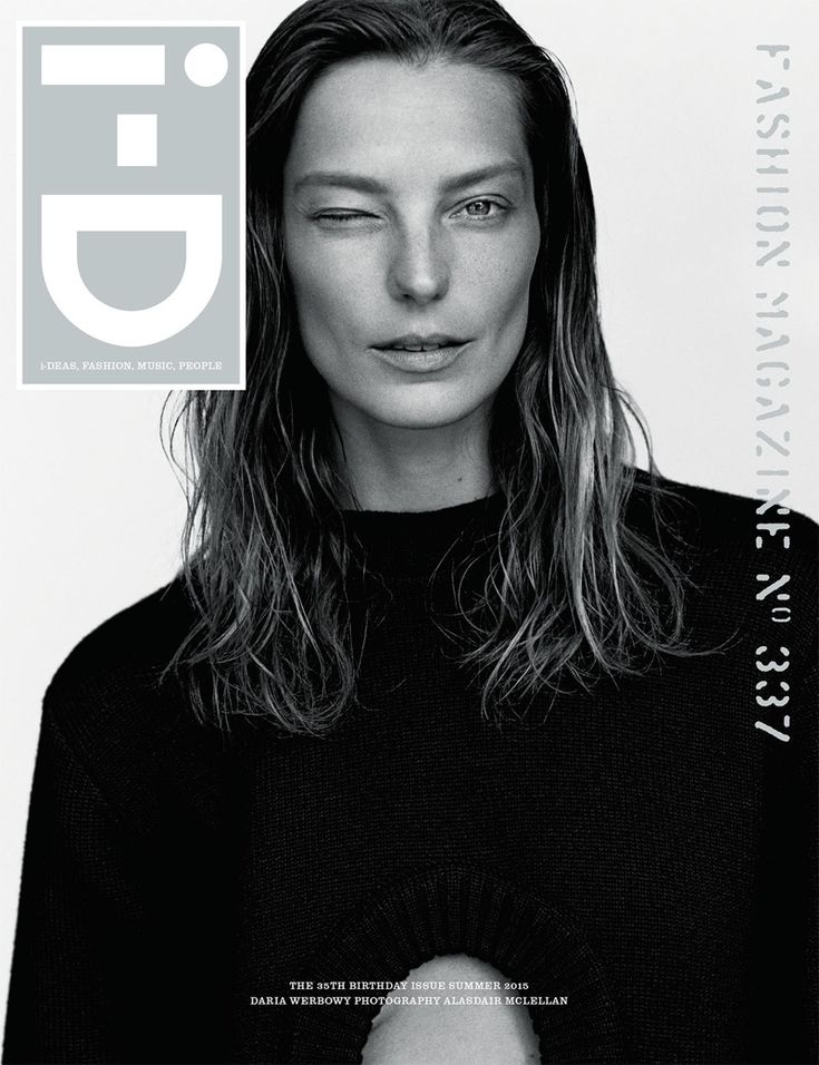 Daria Werbowy Pose on i-D Magazine May 2015 Photoshoot