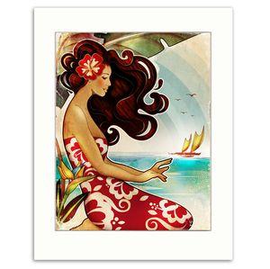 Hawaiian prints with a retro feel