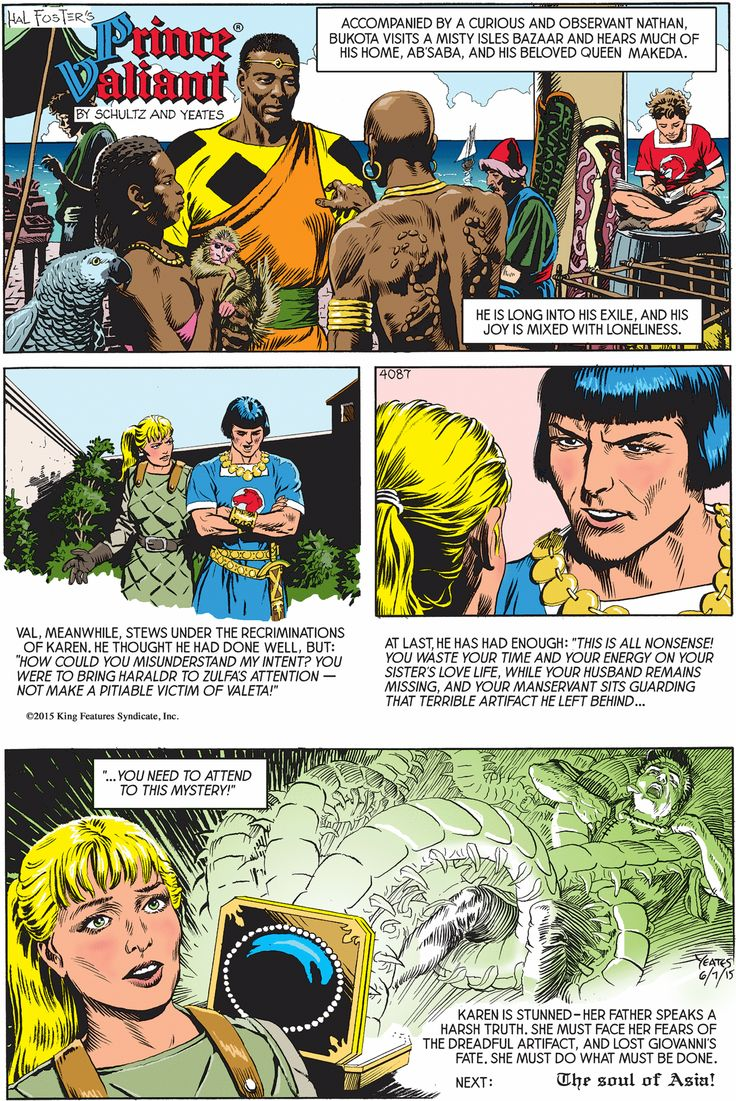 Comic image prince strip valiant there
