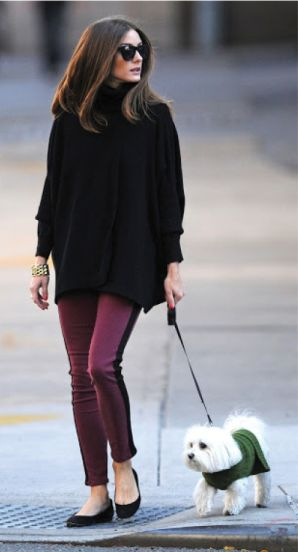 Daily Celebrity Style: Olivia Palermo wearing Black Chunky Turtleneck Sweater