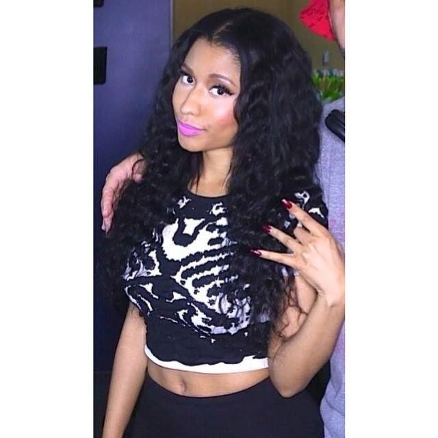 Nicki Minaj is on fire looking flawless in our mirror image crop top #lucyparis
