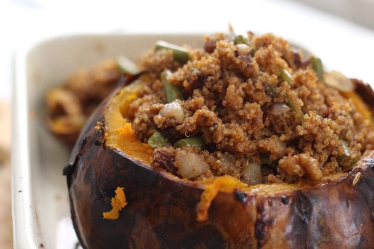 I love Crown Prince Squash particularly when it helps draw out flavours of the fragrant quinoa. It is a great centre piece to bring out at a meal.